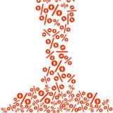 Procentu biznesu bezszwowy wzór Promoci finansowy tło dla sprzedaży oferty Procentu bezszwowy wzór Obraz Royalty Free