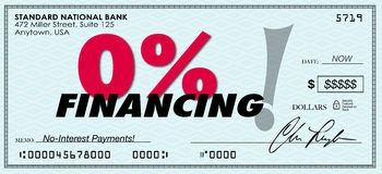 0% procentu finansowania Zero depresja Żadny interes Pożyczkowa zapłata ilustracja wektor