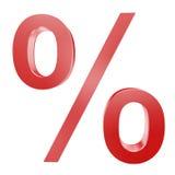 procentu symbol Zdjęcia Royalty Free