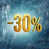 30 procentu znak Fotografia Royalty Free