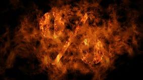 Procentu znak - płomienie zdjęcie wideo