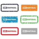 100 procentów naturalny znak. Żywność organiczna symbol Obraz Stock