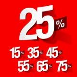 procenty sprzedaż Fotografia Stock
