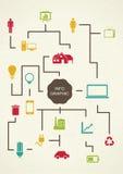 Proces do projeto do infographics do vintage. Fotografia de Stock