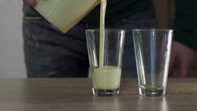 Proces dolewanie proteina w szkła zbiory wideo