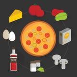 Proces gotować pizzę ilustracji