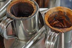 Proces herbaciany robić uliczny jedzenie, to jest nabierał Tajlandia, tradycja Tajlandzki Obrazy Royalty Free