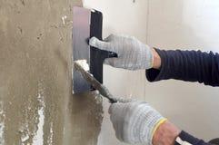 Proces kit betonowa ściana Fotografia Royalty Free
