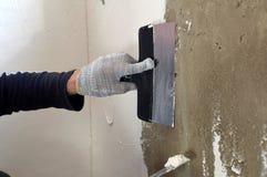Proces kit betonowa ściana Zdjęcie Stock