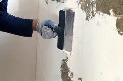 Proces kit betonowa ściana Obrazy Stock
