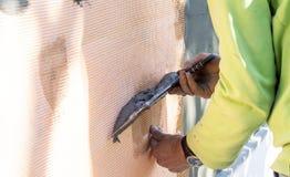 Proces kit ściany z piankowym klingerytem Zdjęcie Royalty Free