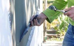Proces kit ściany z piankowym klingerytem Obraz Royalty Free