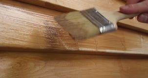 Proces Malować Drewnianą ścianę zbiory
