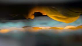 Proces om embryo's binnen eieren met eimeetapparaat te controleren Langzame Motie Sluit omhoog stock footage