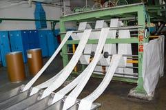 Proces produkcji biała syntetyczna akrylowego włókna produkcja przy produktem naftowym Obrazy Stock