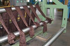 Proces produkcji dla produkci brąz barwił syntetycznego akrylowego włókno przy substancją chemiczną Obrazy Stock