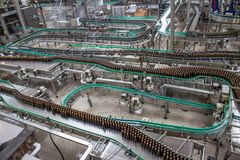 proces produkcyjny piwo fabryki technologiczne Obraz Royalty Free