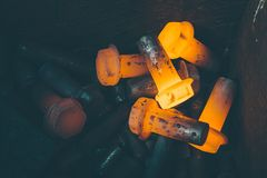 Proces skucie metal fotografia stock