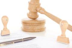Proces toe te schrijven aan contractbreuk Stock Fotografie