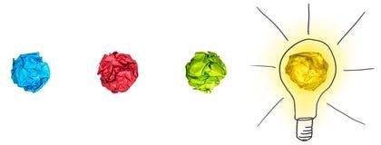 Proces van brainstorming vector illustratie