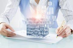 Proces van nieuwe technologieënintegratie Stock Fotografie