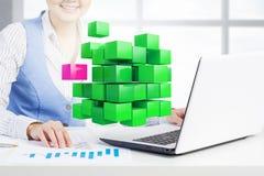 Proces van nieuwe technologieënintegratie Stock Foto