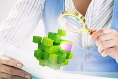 Proces van nieuwe technologieënintegratie Gemengde media Stock Afbeelding