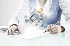 Proces van nieuwe technologieënintegratie Gemengde media Royalty-vrije Stock Afbeelding
