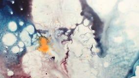 Proces van verwezenlijking van moderne kunstachtergrond stock video