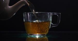 Proces warzy? herbaty Herbaciana ceremonia, filiżanka wrzosiec Świeżo zdjęcie wideo
