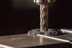 Proces wiertniczy stalowy talerz mielenie maszyną Obrazy Stock