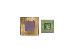 Procesador Chips Closeup del ordenador Fotos de archivo libres de regalías