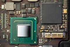 Procesador de la CPU de un ordenador portátil imagenes de archivo
