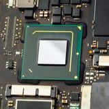 Procesador de la CPU de un ordenador portátil fotografía de archivo libre de regalías