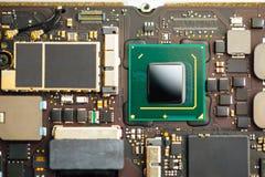 Procesador de la CPU de un ordenador portátil foto de archivo libre de regalías