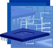 Procesador del ordenador ilustración del vector