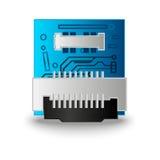 Procesador del ordenador del microprocesador Imagen de archivo