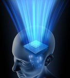 Procesador principal del cerebro Imagenes de archivo