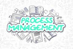 Procesbeheer - Beeldverhaal Groene Tekst Bedrijfs concept stock illustratie
