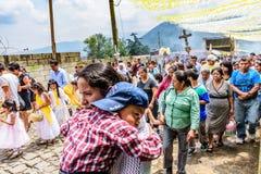 Procesión católica, San Juan del Obispo, Guatemala Foto de archivo