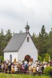 Procesión católica tradicional en Baviera rural Imagen de archivo