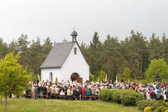 Procesión católica tradicional en Baviera rural Fotografía de archivo