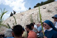 Procesión de Domingo de Ramos en Jerusalén Fotos de archivo libres de regalías