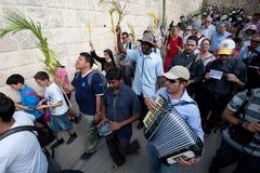 Procesión de Domingo de Ramos en Jerusalén Fotografía de archivo libre de regalías