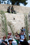 Procesión de Domingo de Ramos en Jerusalén Imágenes de archivo libres de regalías