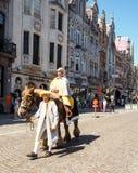 Procesión de Hanswijk en el centro de ciudad de Mechelen, Bélgica fotografía de archivo libre de regalías
