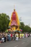Procesión de Krishna de las liebres Foto de archivo libre de regalías