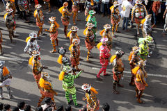Procesión de la danza del tigre foto de archivo libre de regalías