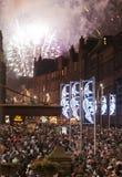 Procesión de la luz de antorchas de Edimburgo Imágenes de archivo libres de regalías