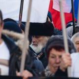 Procesión de la oposición en memoria del político Boris Nemts Fotografía de archivo libre de regalías